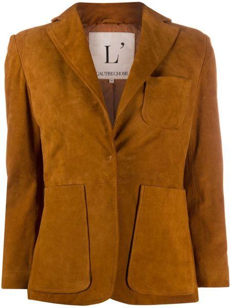 Сатиновый удлиненный пиджак с карманами L'autre Chose