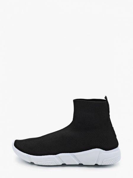 Текстильные черные высокие кроссовки Queen Vivi