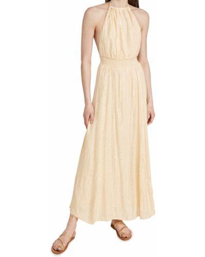Платье в полоску с декольте на бретелях Sundress
