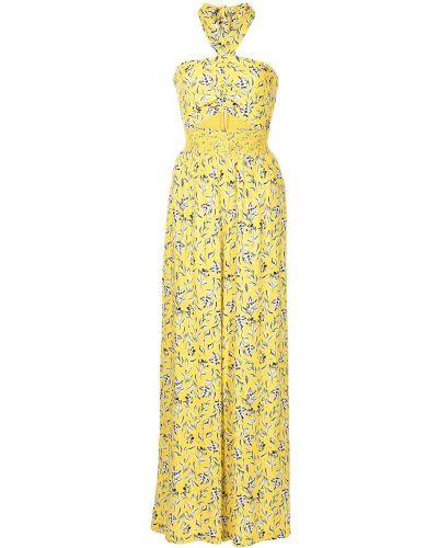 Żółty kombinezon w kwiaty z wiskozy Alice+olivia