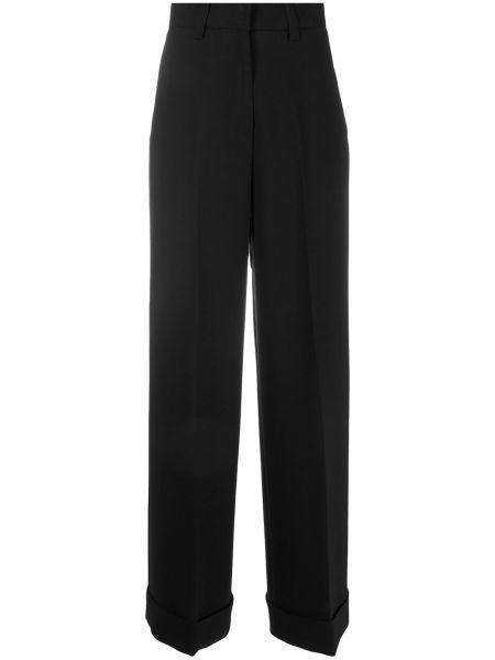 Деловые черные брюки с карманами свободного кроя Pt01
