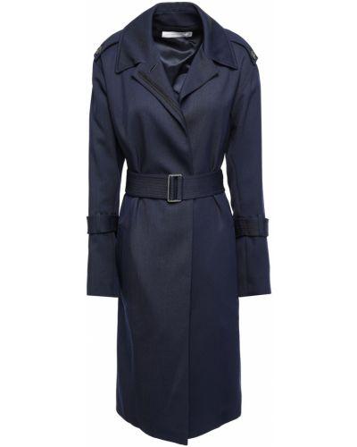 Шерстяное пальто с капюшоном на пуговицах Victoria Beckham