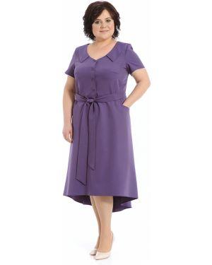 Платье с поясом на пуговицах с V-образным вырезом Merlis