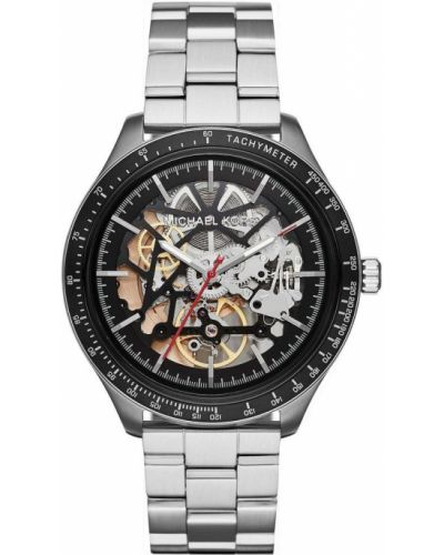 Szary zegarek mechaniczny srebrny Michael Kors