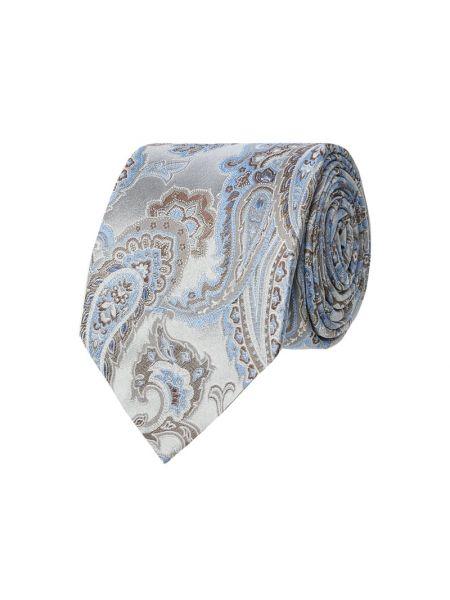 Krawat srebrny Eton Slim Fit