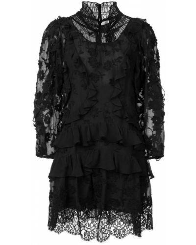 Платье с вырезом с длинными рукавами Rebecca Taylor