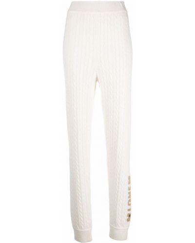Шерстяные брюки - белые Love Moschino