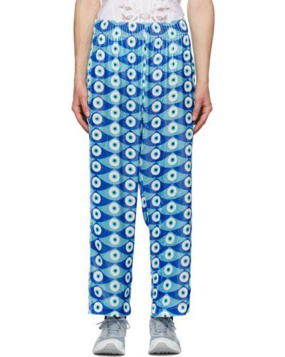 Хлопковые синие брючные брюки с карманами Gmbh