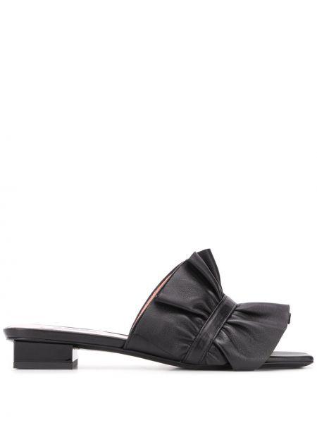 Черные кожаные мюли на каблуке Msgm