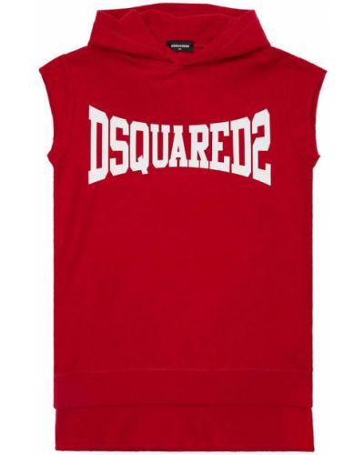 Хлопковое платье - красное Dsquared2