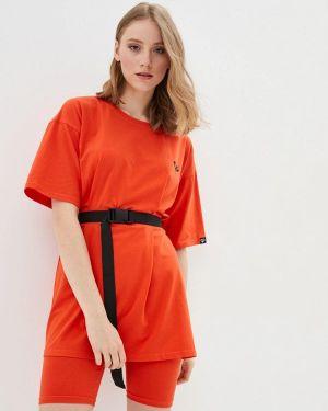 Костюмный оранжевый спортивный костюм Lilove