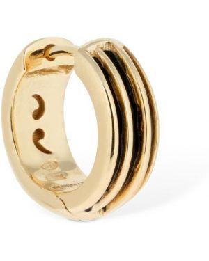 Czarne złote srebrne kolczyki Marco Dal Maso