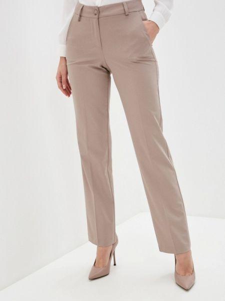 Бежевые классические брюки с карманами Argent
