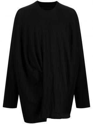 Czarna t-shirt z długimi rękawami Julius