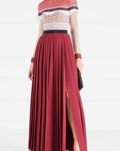 Платье с поясом винтажная комбинированный Self-portrait