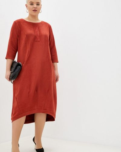 Оранжевое повседневное платье Prewoman