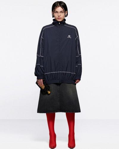 Джинсовая юбка миди - черная Balenciaga
