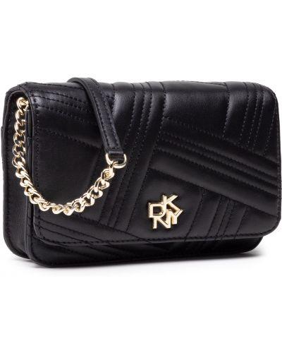 Złoty portfel - czarny Dkny