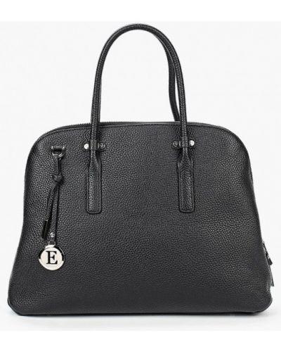 Черная сумка из натуральной кожи Eleganzza