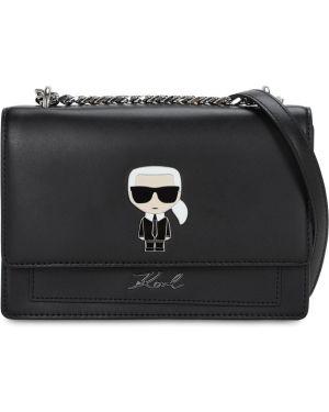 Кожаная сумка на цепочке на плечо Karl Lagerfeld