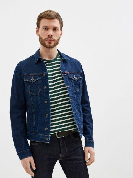 Синяя джинсовая куртка прозрачная Rifle