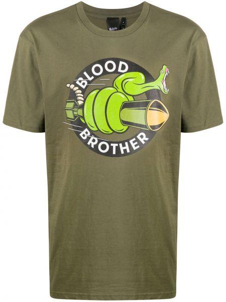 Koszula krótkie z krótkim rękawem z logo prosto Blood Brother