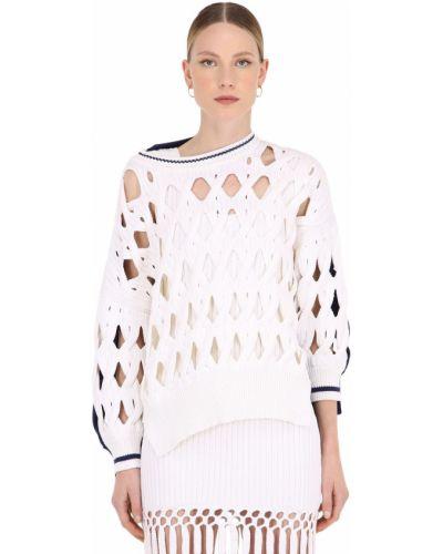 Biały sweter wełniany oversize Sonia Rykiel