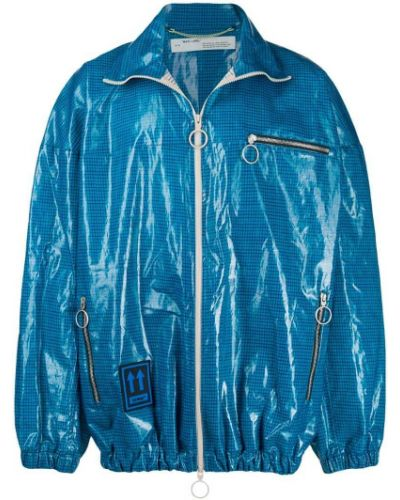 Длинная куртка льняная на резинке Off-white