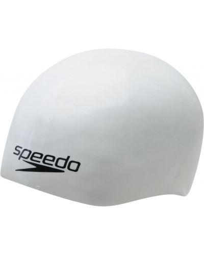 Biała czapka silikon Speedo