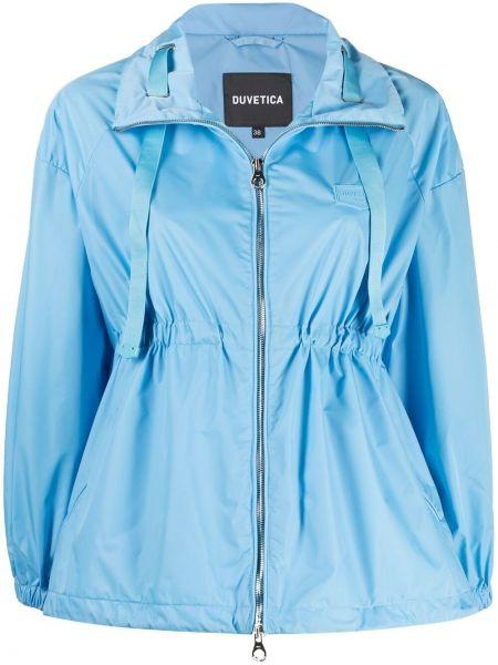 Синяя куртка с поясом на молнии Duvetica