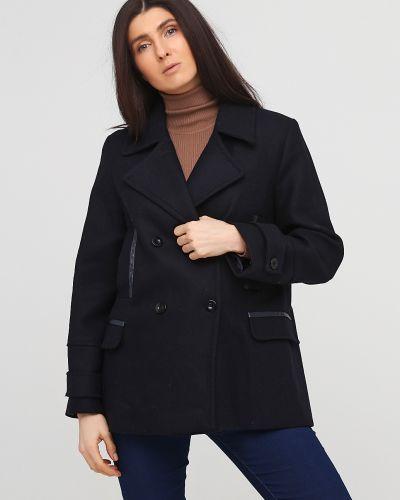 Синее пальто на пуговицах с подкладкой Kookai
