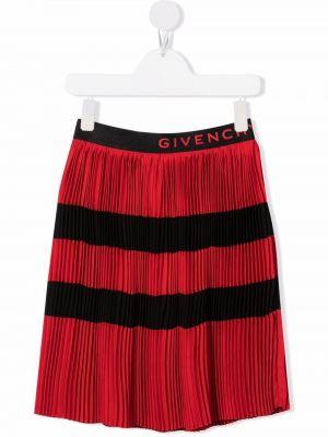 Spódnica plisowana - czarna Givenchy Kids