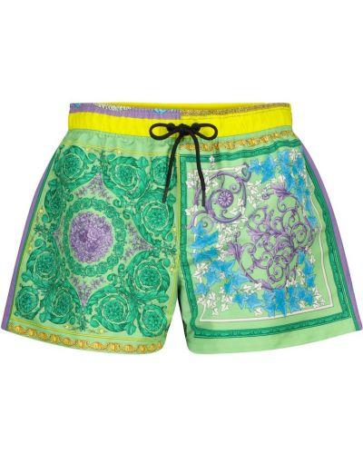 Plaża zielony spodnie bokserskie Versace