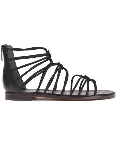 Czarne sandały zamszowe Sam Edelman