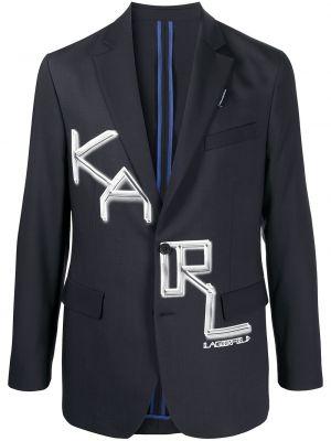 Пиджак длинный - черный Karl Lagerfeld
