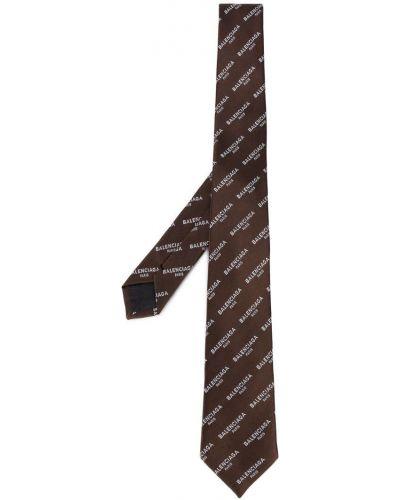 Галстук с логотипом шелковый Balenciaga