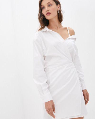 Белое джинсовое платье с запахом Guess Jeans