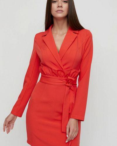 Оранжевое платье с запахом Cardo