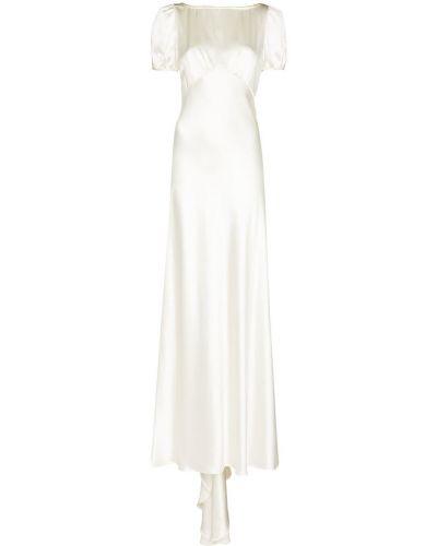 Biała sukienka z jedwabiu Rixo