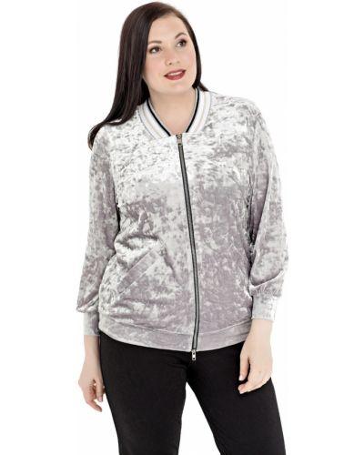 Куртка бархатная на молнии Averi
