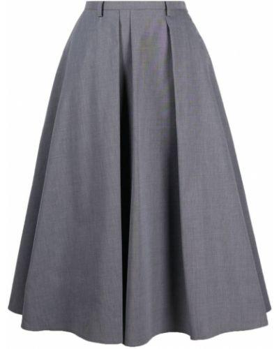 Серая плиссированная юбка с карманами Sofie D'hoore