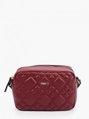 Бордовая сумка осенняя Fabretti