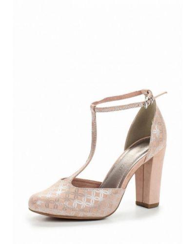 Розовые туфли на каблуке Marco Tozzi