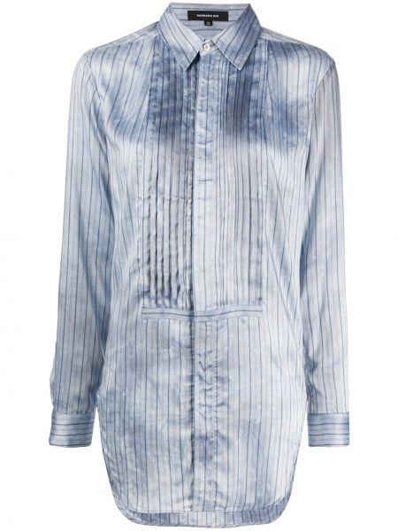 Niebieska koszula z długimi rękawami z wiskozy Barbara Bui