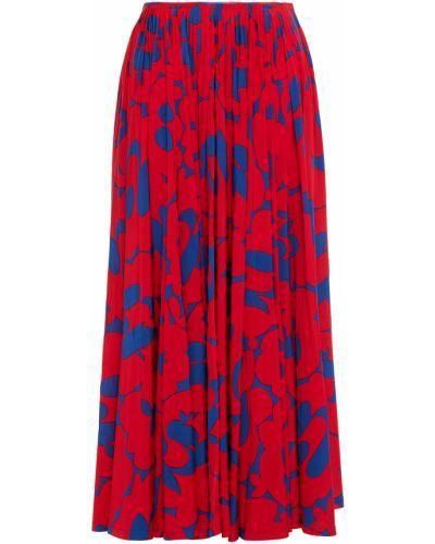 Трикотажная плиссированная юбка макси на крючках Marni