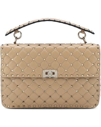Кожаная сумка на цепочке большая Valentino