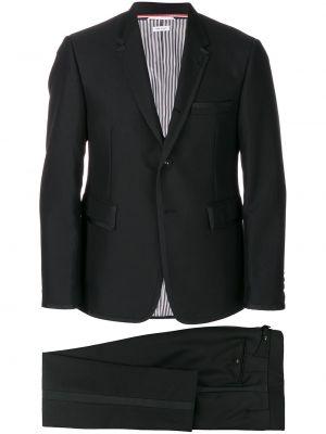 Czarny smoking z długimi rękawami wełniany Thom Browne