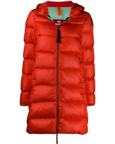 Деловое красное длинное пальто Parajumpers