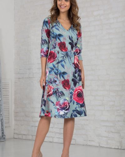 Платье с запахом азалия