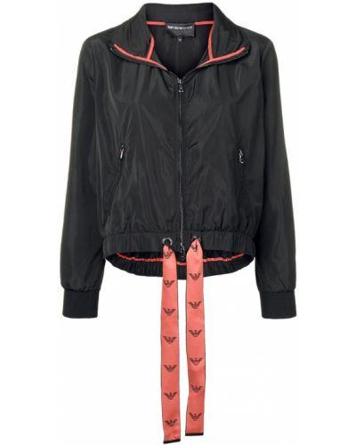 Облегченная черная куртка Emporio Armani